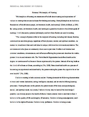 Sample philosophy essay