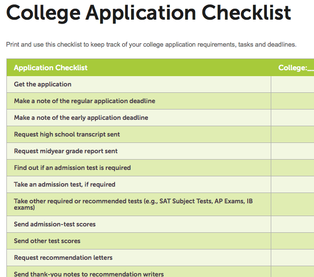 College Application Report Writing Uk