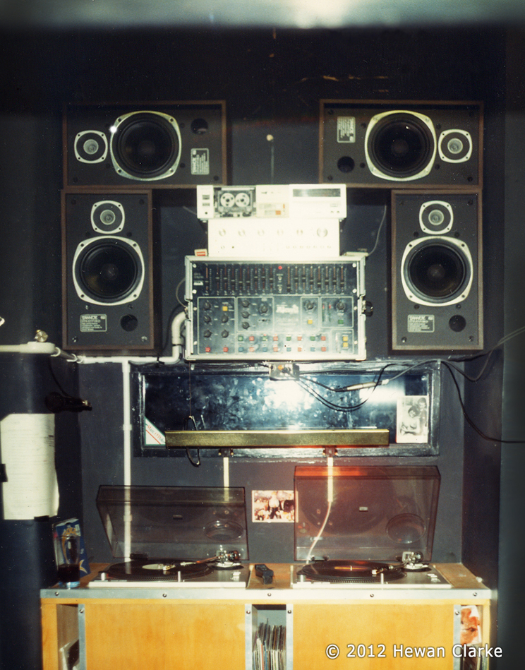 The Haçienda DJ Booth 1983 - Copyright Hewan Clarke