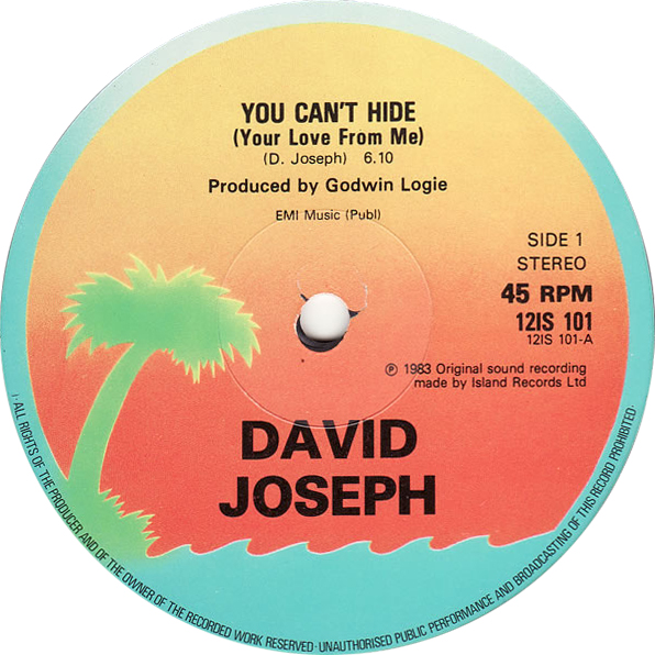 David Joseph 'You Can't Hide (Your Love From Me)'