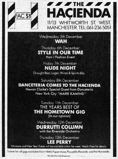 Mark Kamins @ The Hacienda 1984