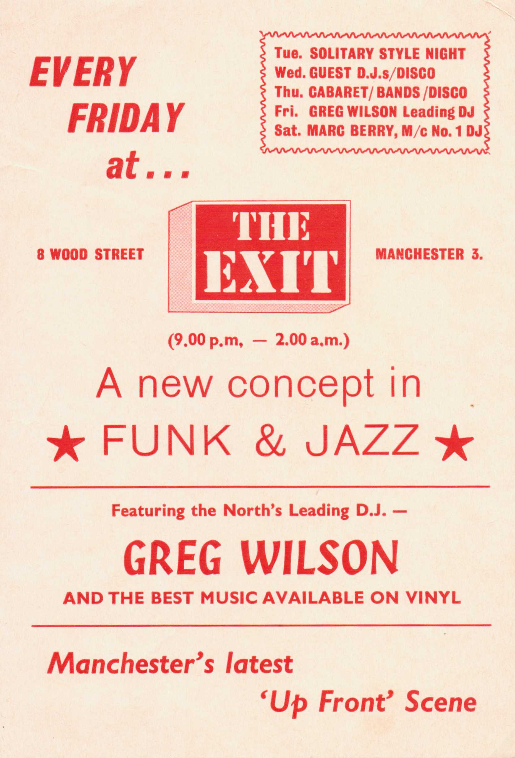 The Exit Manchester Flyer