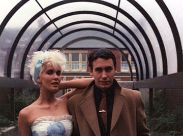 The Tube presenters - Paula Yates & Jools Holland