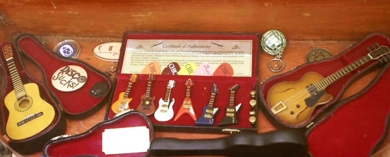 Nile Rodgers Miniture Guitars