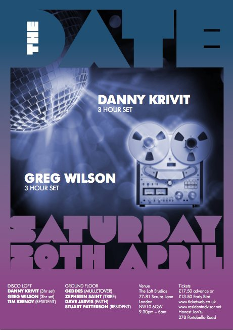 The Date Flyer - Danny Krivit & Greg Wilson