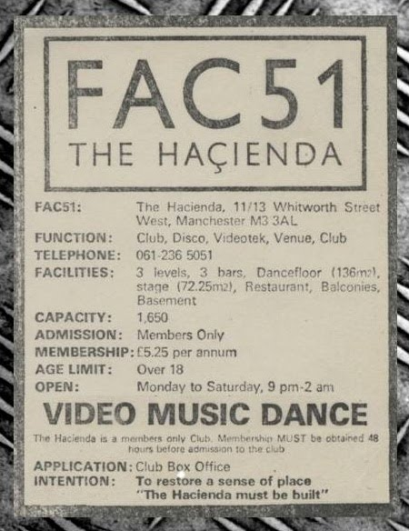 Hacienda advert 1982