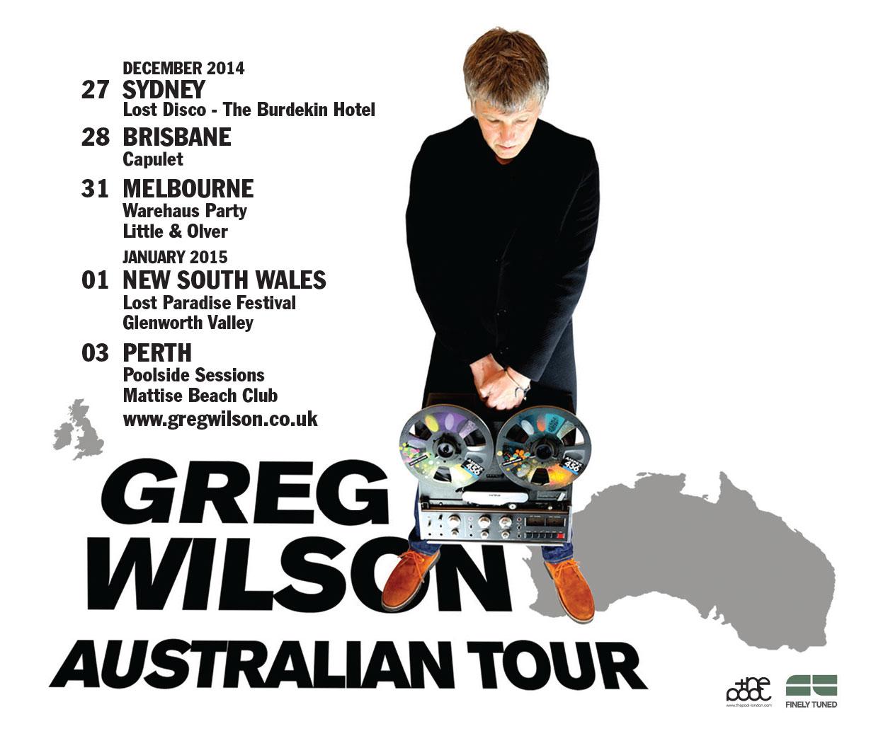 Australian Tour eflyer