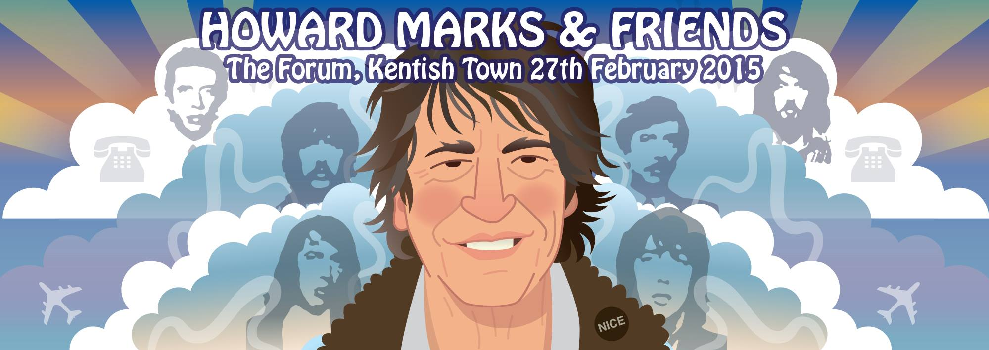 Howard Marks & Friends artwork by Pete Fowler