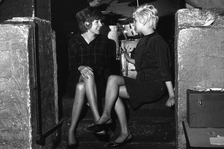 Cilla Black with friend at The Cavern