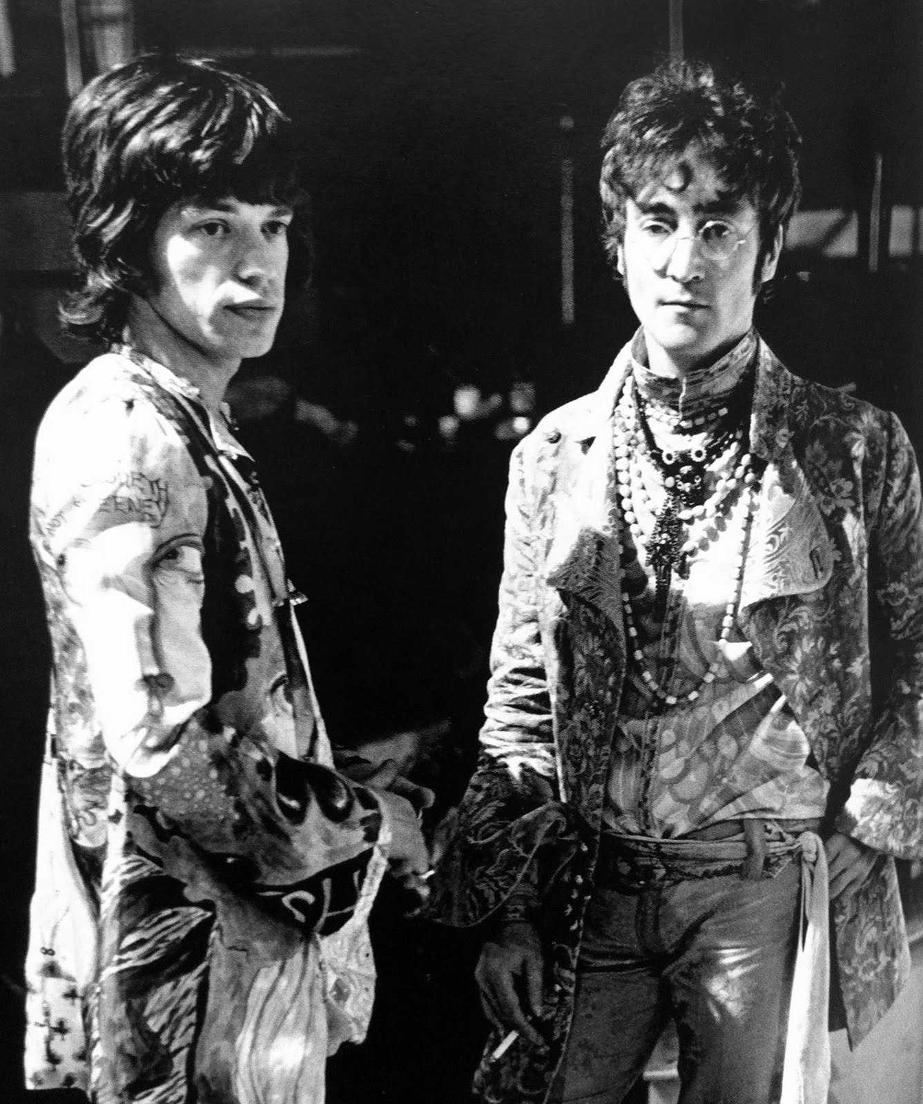 Mick Jagger & John Lennon