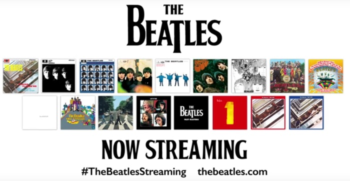 Beatles Now Streaming