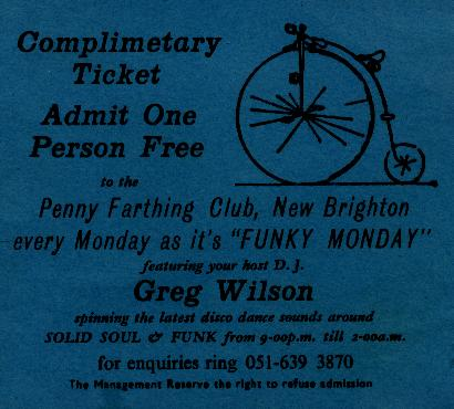 Ticket Penny Farthing New Brighton 76