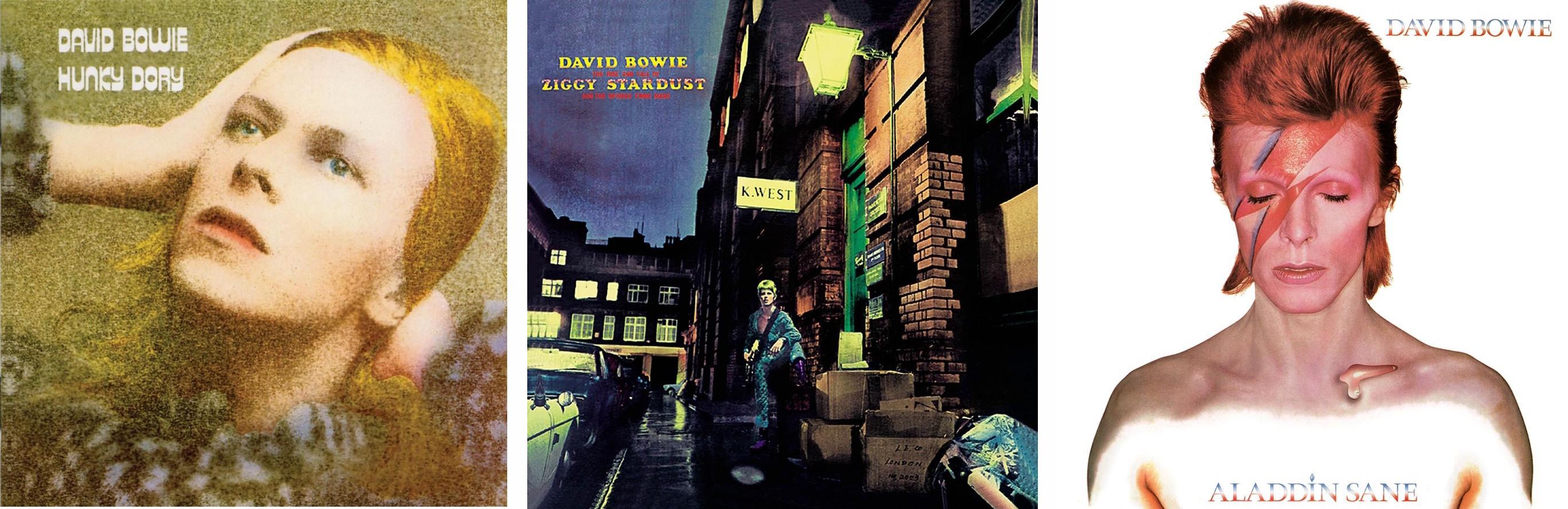 Hunky Dory - Ziggy Stardust - Aladdin Sane
