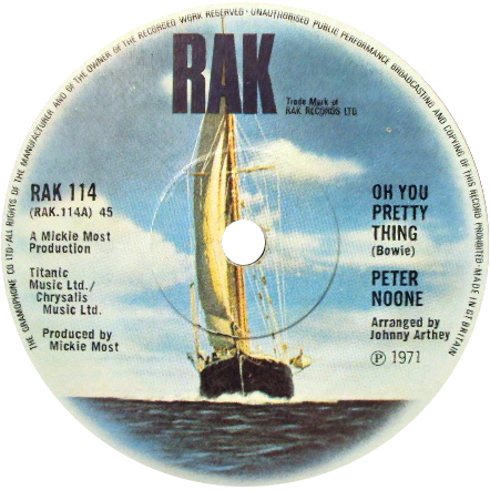 Peter Noone ' Oh! You Pretty Things'
