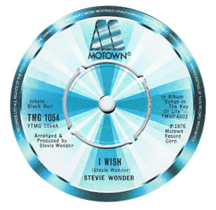 Stevie Wonder 'I Wish' label