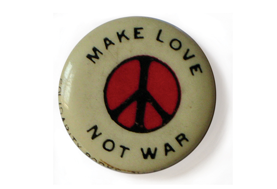 Make Love Not War badge