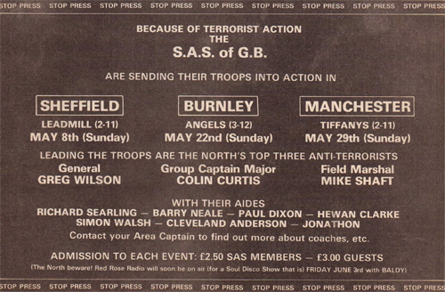 S.A.S Of G.B All-Dayers May 1983