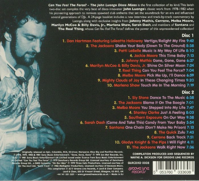 Can You Feel The Force - CD Sleeve Back