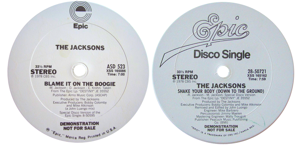 Jacksons 'Blame It On The Boogie' - 'Shake Your Body'