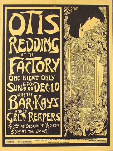 Otis Redding Madison Factory Poster