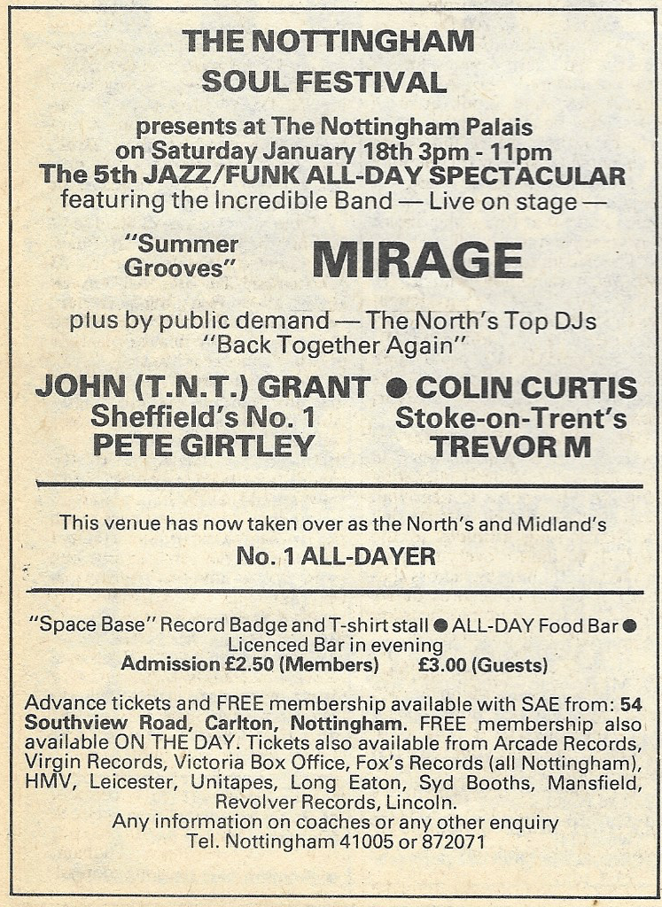 Blues & Soul 321 Nottingham Palais All-Dayer Jan '81