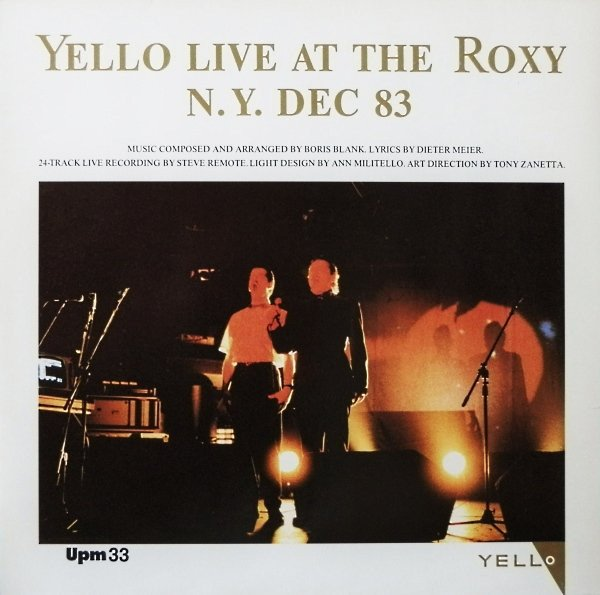 Yello - Live At The Roxy