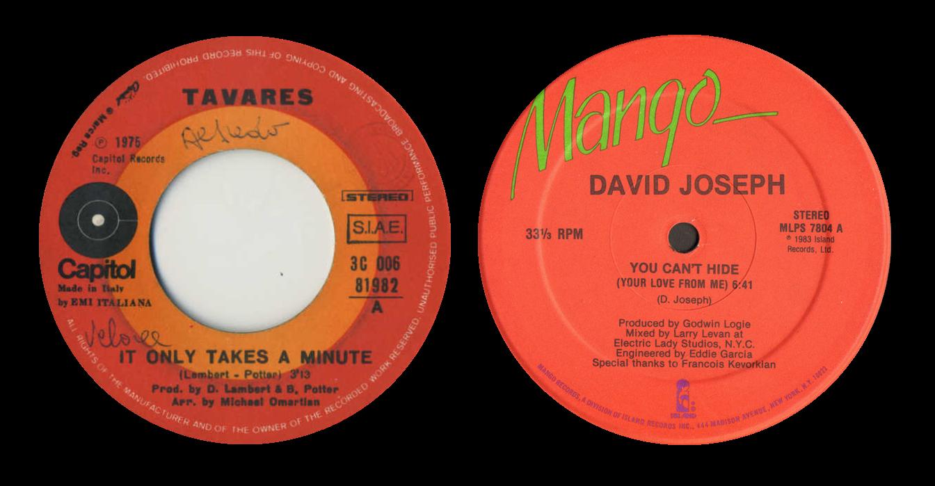 Tavares and David Joseph labels
