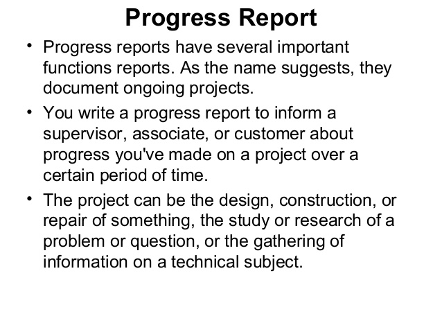 how to write a progress report for students